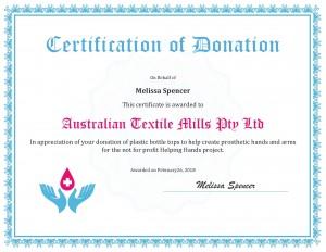 certificate-appreciation-donation-ATM Helping Hands